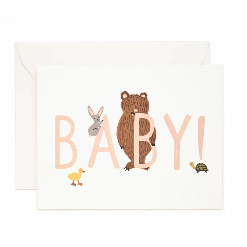 Baby Peach Greeting Card- - Anglo Dutch Pools & Toys