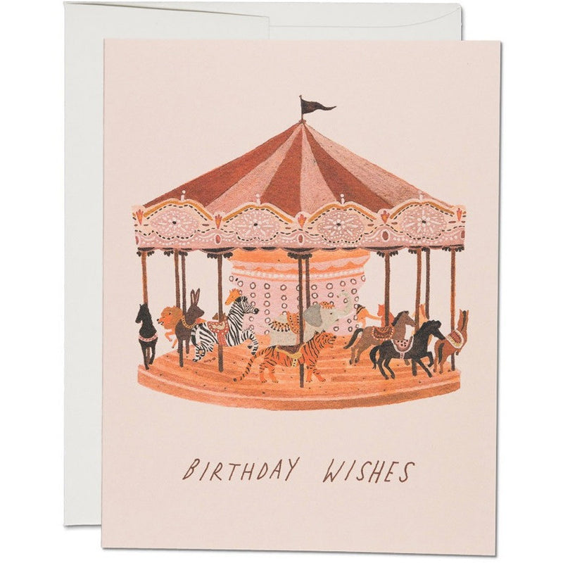 Carousel Wishes Birthday Card - Greeting Cards - Anglo Dutch Pools and Toys