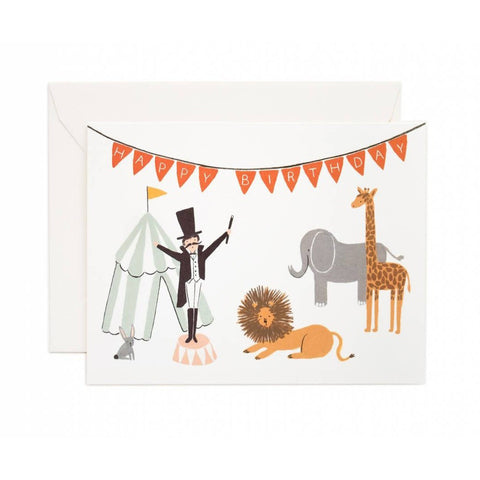 Circus Birthday Greeting Card- - Anglo Dutch Pools & Toys