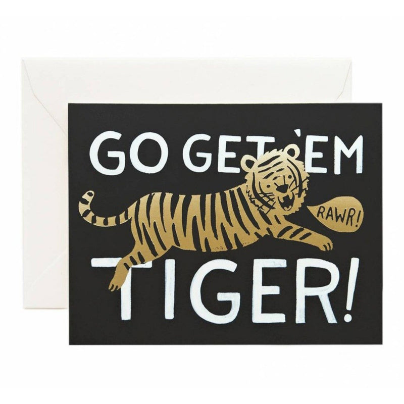 Go Get 'Em Tiger Greeting Card - Greeting Cards - Anglo Dutch Pools and Toys