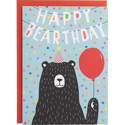 Happy Bearthday Birthday Card - Greeting Cards - Anglo Dutch Pools and Toys