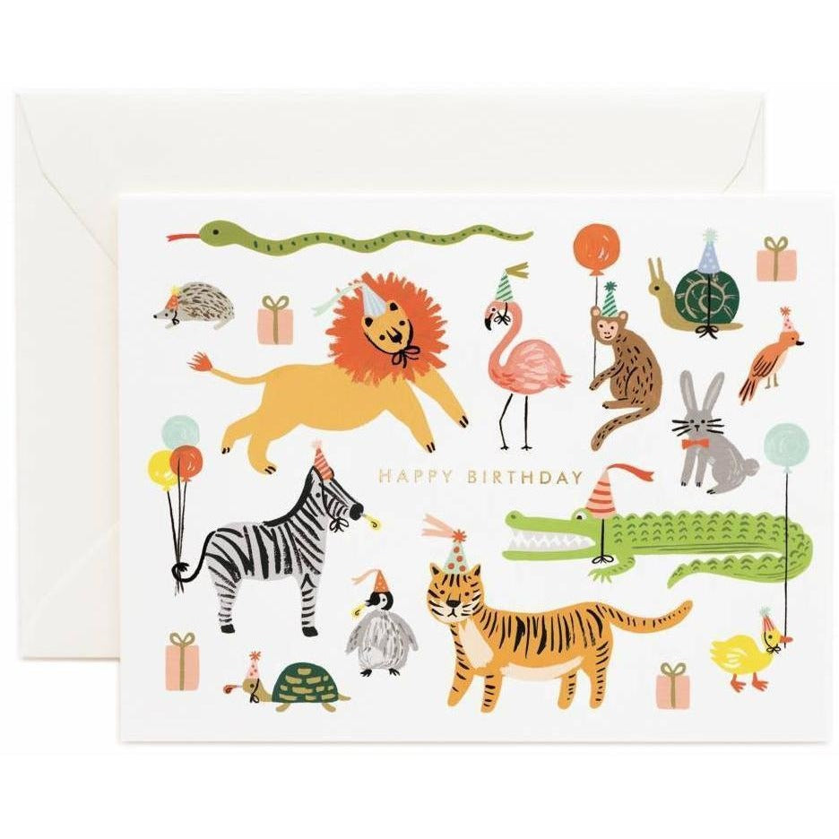 Party Animals Greeting Card Greeting Cards