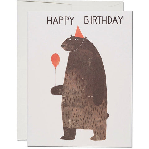 Greeting Cards - Party Bear Birthday Card