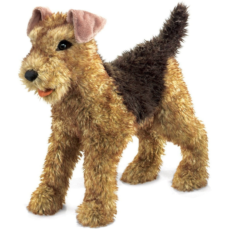 Folkmanis Airedale Terrier Hand Puppet - Hand Puppets - Anglo Dutch Pools and Toys