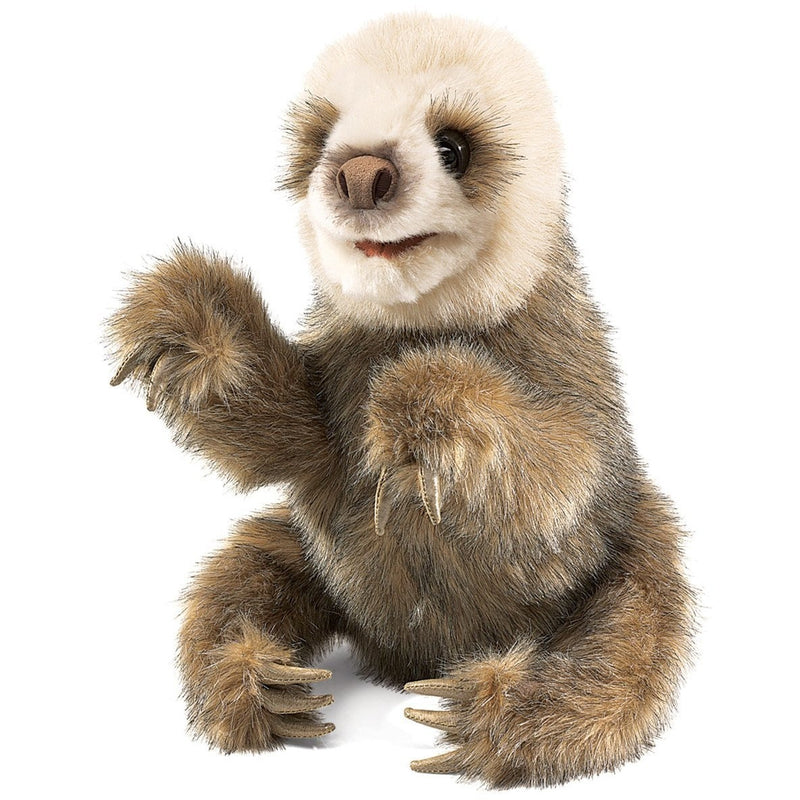 Folkmanis Baby Sloth Hand Puppet - Hand Puppets - Anglo Dutch Pools and Toys