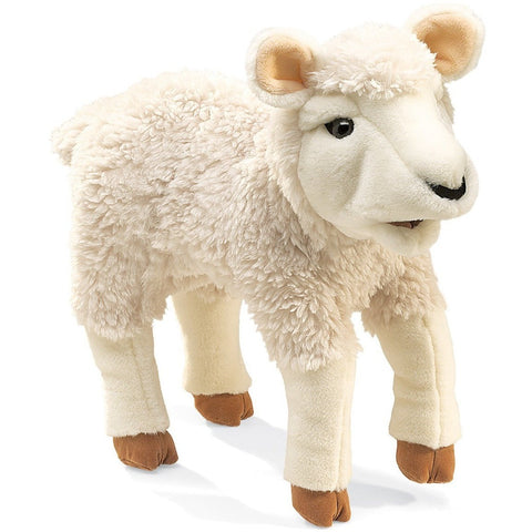 Folkmanis Lamb Hand Puppet - Hand Puppets - Anglo Dutch Pools and Toys