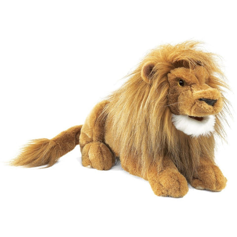Folkmanis Lion Hand Puppet - Hand Puppets - Anglo Dutch Pools and Toys