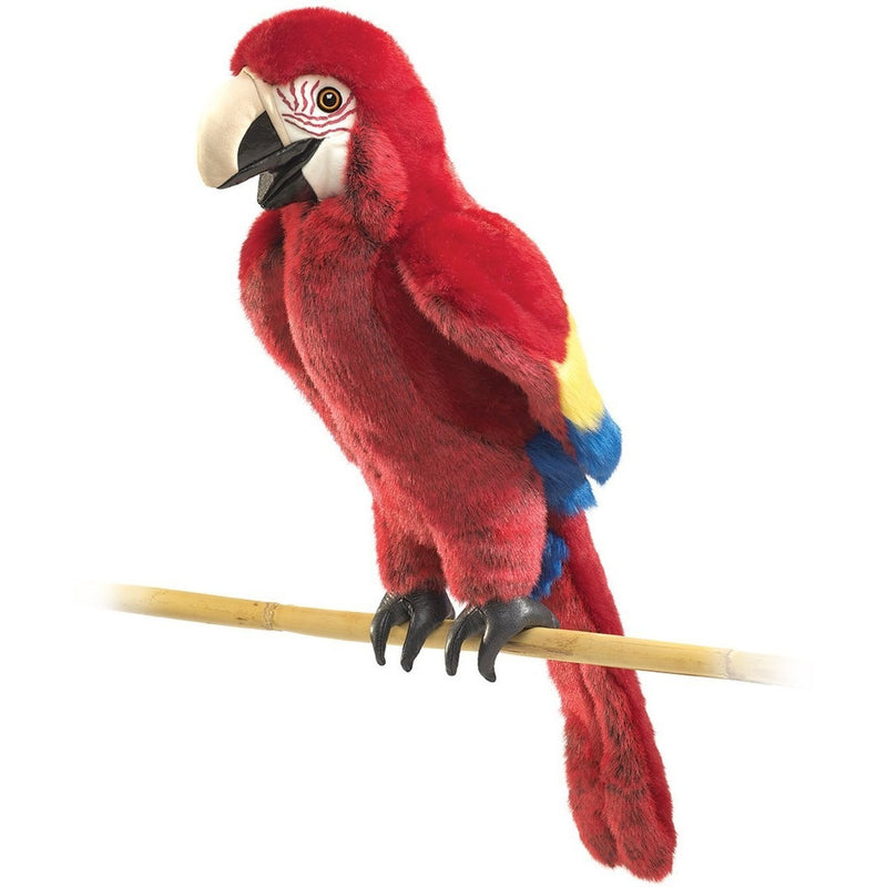 Folkmanis Scarlet Macaw Hand Puppet - Hand Puppets - Anglo Dutch Pools and Toys
