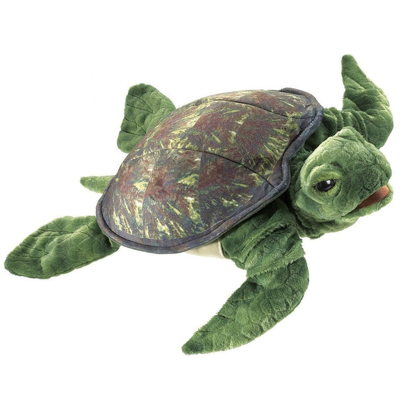 Folkmanis Sea Turtle Hand Puppet - Hand Puppets - Anglo Dutch Pools and Toys