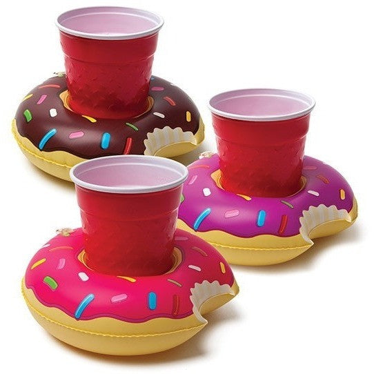 Inflatables And Rafts - BigMouth Frosted Donut Beverage Boats