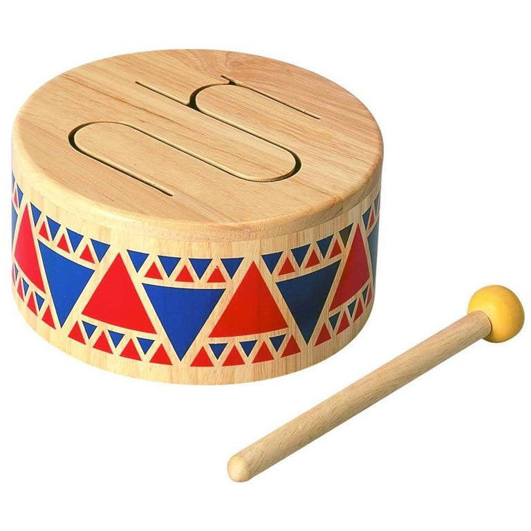 Plan Toys Solid Wood Drum - Instruments - Anglo Dutch Pools and Toys