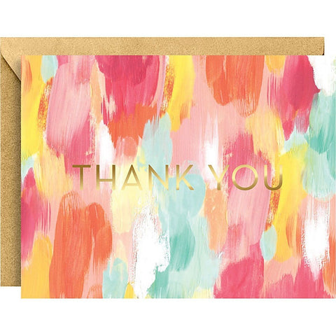 Brushstroke A2 Foil Thank You Notes - Invitations and Thank You Notes - Anglo Dutch Pools and Toys