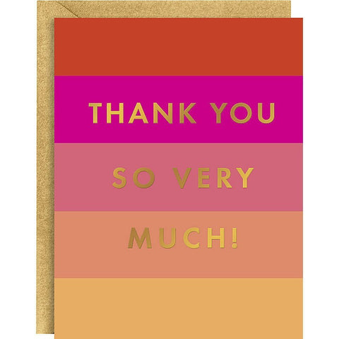 Colorblock Gold Foil A2 Thank You Notes- - Anglo Dutch Pools & Toys