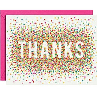 Colorful Confetti A2 Thank You Notes- - Anglo Dutch Pools & Toys