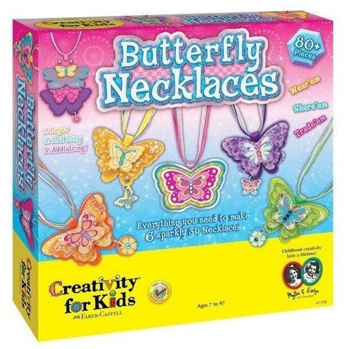 Creativity For Kids Butterfly Necklaces - Jewelry Making - Anglo Dutch Pools and Toys