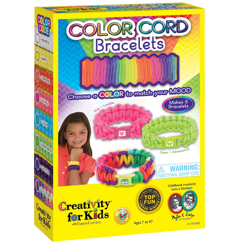Creativity For Kids Color Cord Bracelets- - Anglo Dutch Pools & Toys  - 1