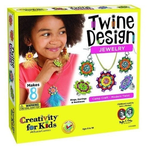 Creativity For Kids Twine Design Jewelry - Jewelry Making - Anglo Dutch Pools and Toys