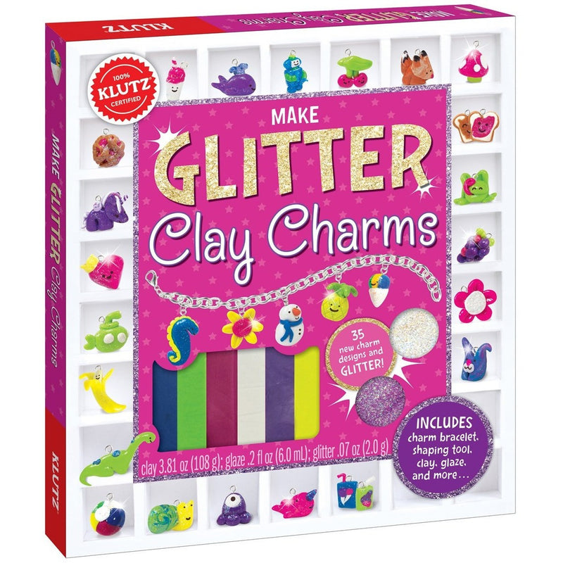 Klutz Make Glitter Clay Charms - Jewelry Making - Anglo Dutch Pools and Toys