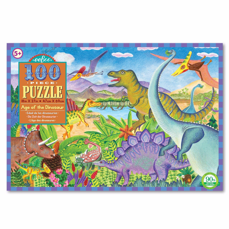 Jigsaw Puzzles - EeBoo Age Of The Dinosaur 100 Piece Puzzle