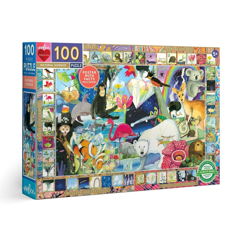 Jigsaw Puzzles - EeBoo Natural Science 100 Piece Puzzle