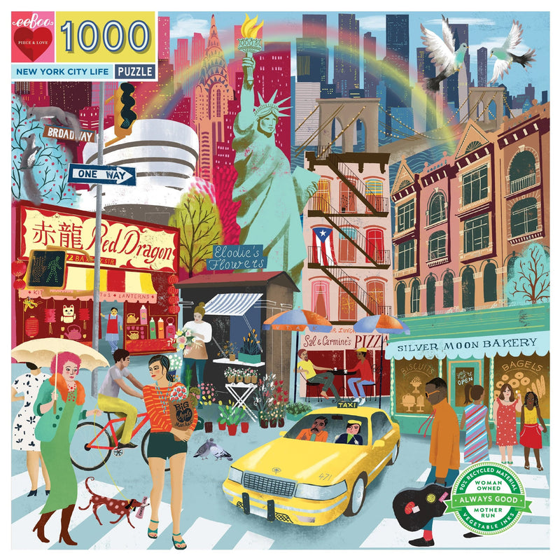 Jigsaw Puzzles - EeBoo New York City Life 1000 Pc Puzzle