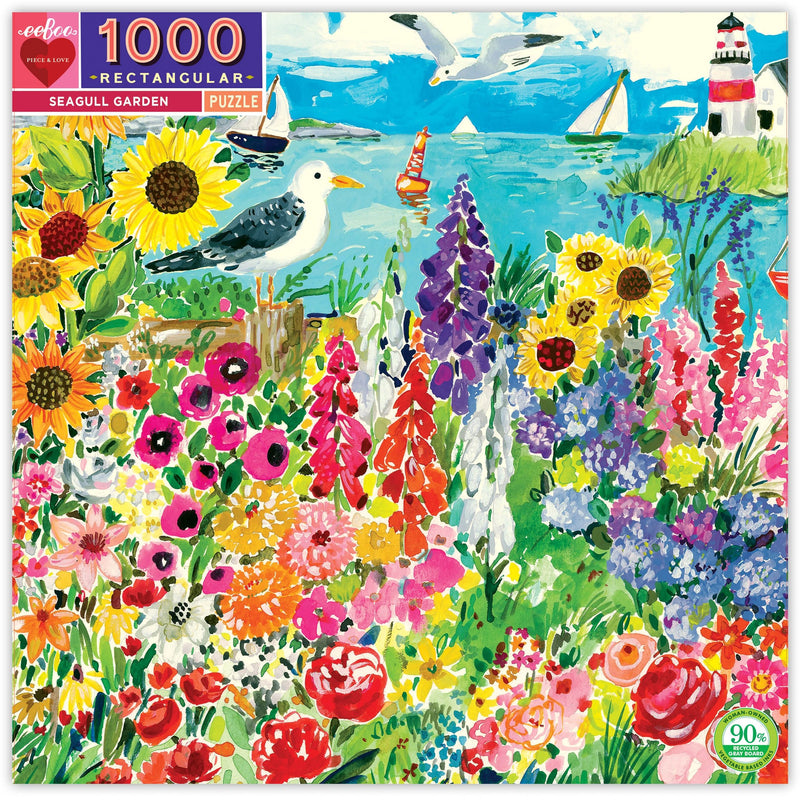 Jigsaw Puzzles - EeBoo Seagull Garden 1000 Pc Puzzle
