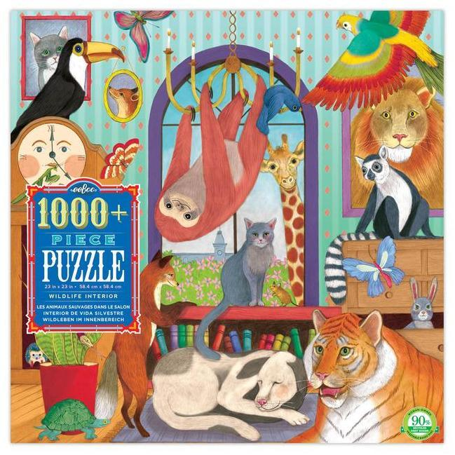 Jigsaw Puzzles - EeBoo Wildlife Interior 1008 Pc Puzzle
