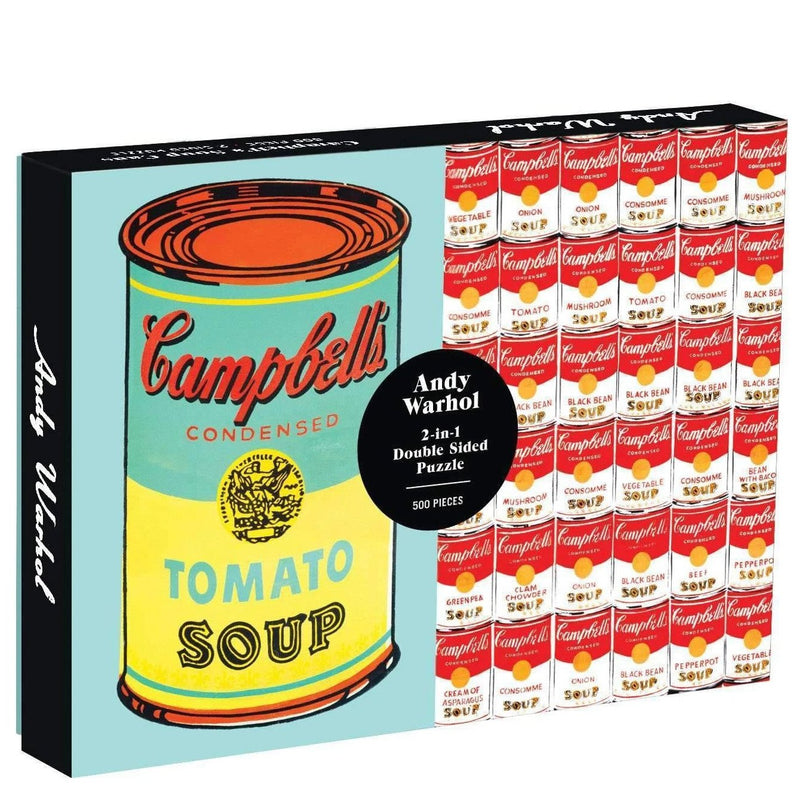 Jigsaw Puzzles - Galison Andy Warhol Soup Can Double Sided 500 Pc Puzzle