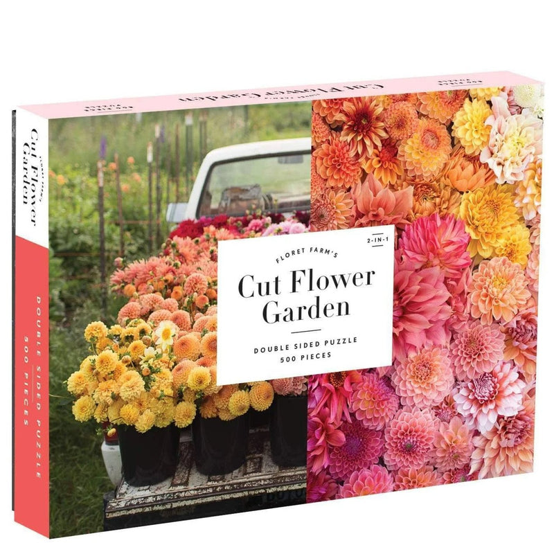 Jigsaw Puzzles - Galison Floret Farm's Cut Flower Garden Double Sided 500 Pc Puzzle