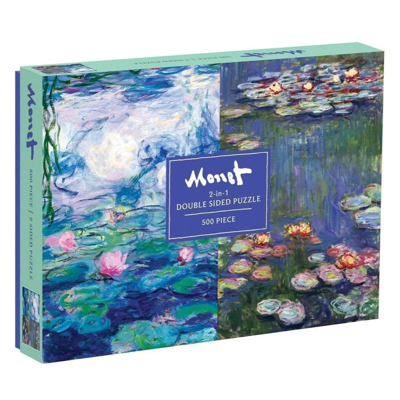 Jigsaw Puzzles - Galison Monet Double Sided 500 Pc Puzzle