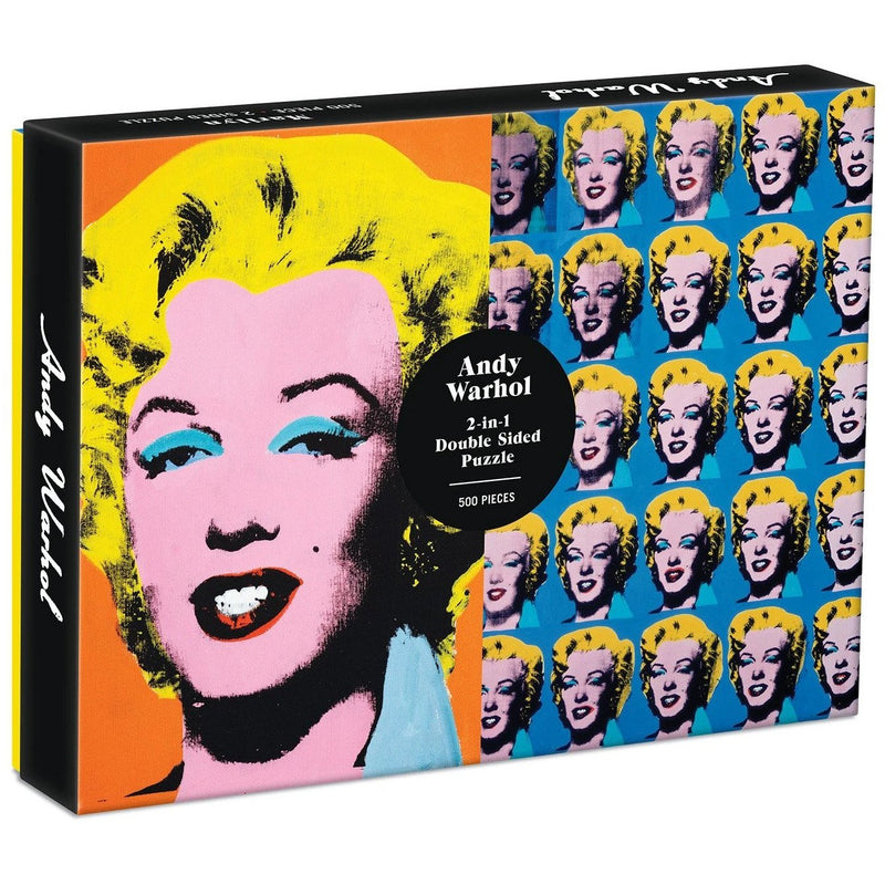 Jigsaw Puzzles - Galison Warhol Marilyn Double-Sided 500 Pc Puzzle