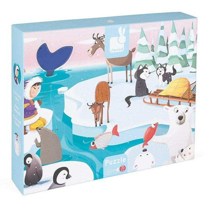 Janod Life on the Ice Tactile 20 Pc Puzzle