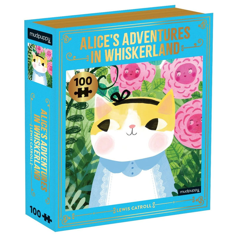 Jigsaw Puzzles - Mudpuppy Alice's Adventures In Whiskerland Bookish Cats Puzzle 100 Pc