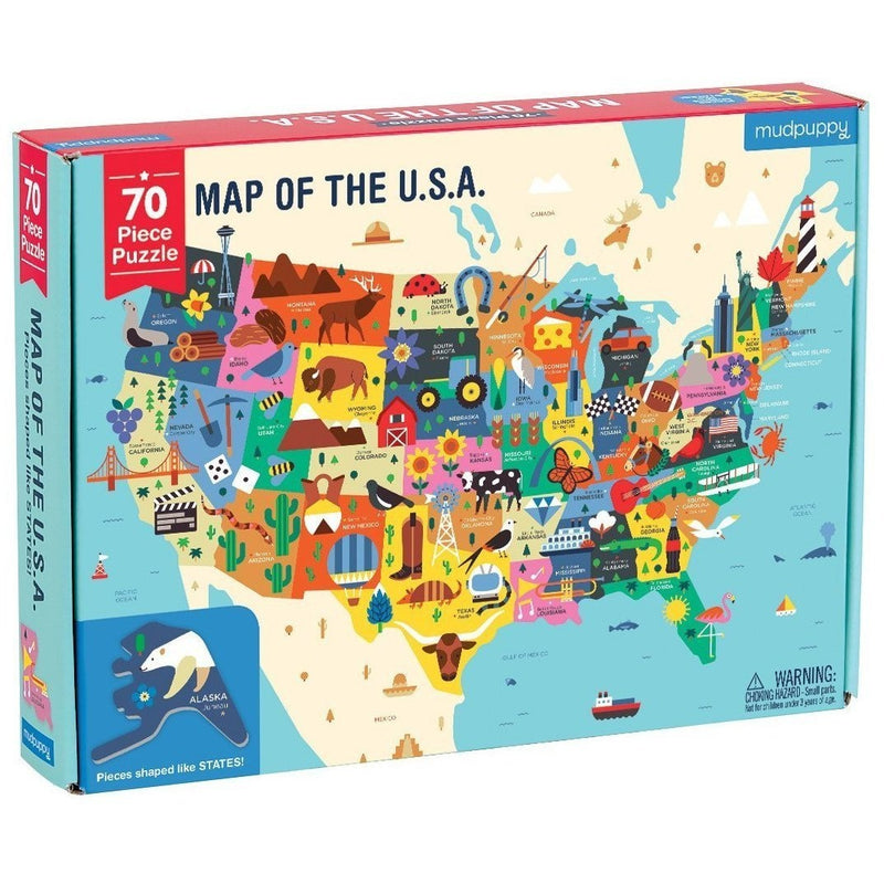 Mudpuppy Map Of The USA 70 Pc Puzzle