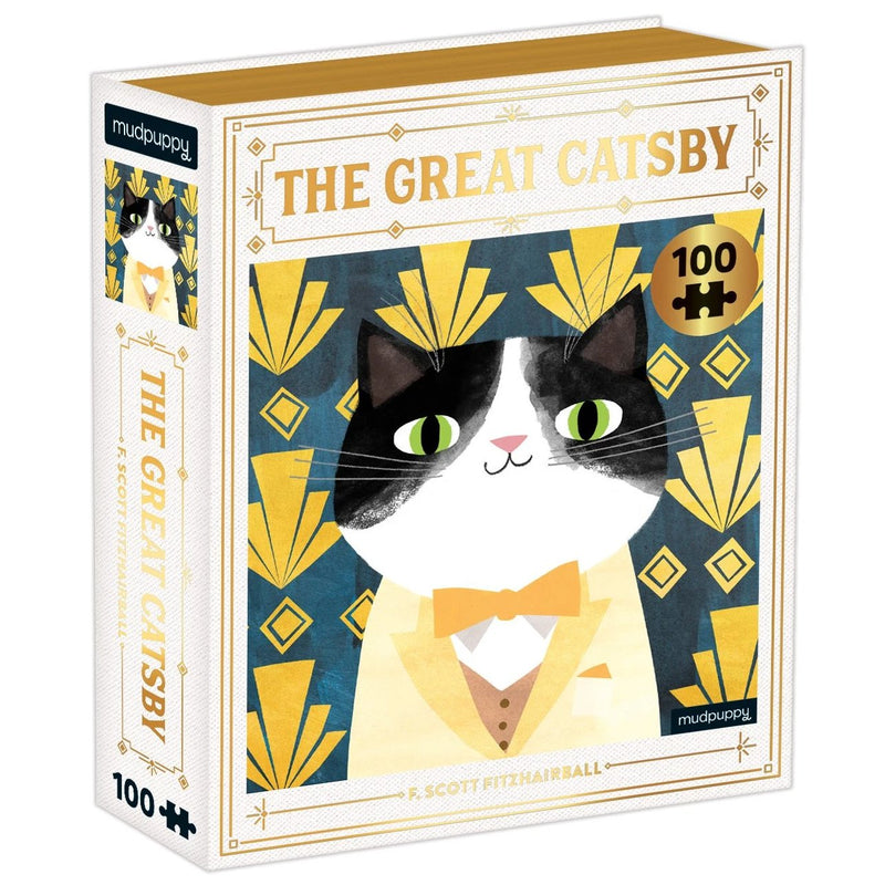 Jigsaw Puzzles - Mudpuppy The Great Catsby Bookish Cats Puzzle 100 Pc