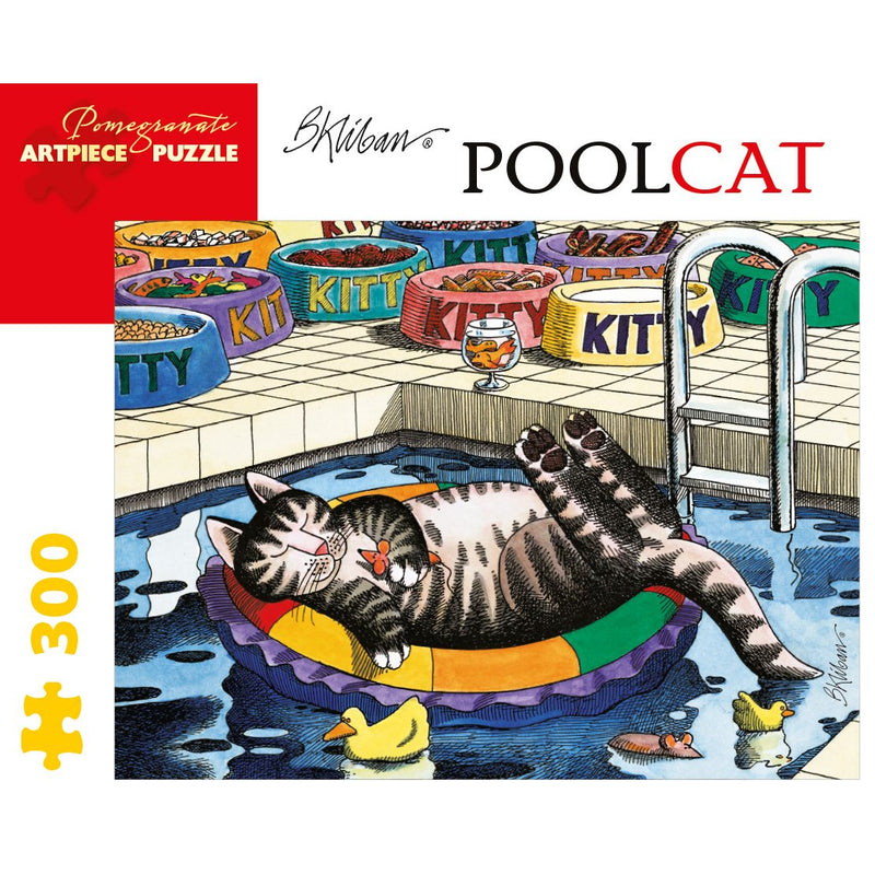 Jigsaw Puzzles - Pomegranate B. Kliban: PoolCat 300 Pc Puzzle