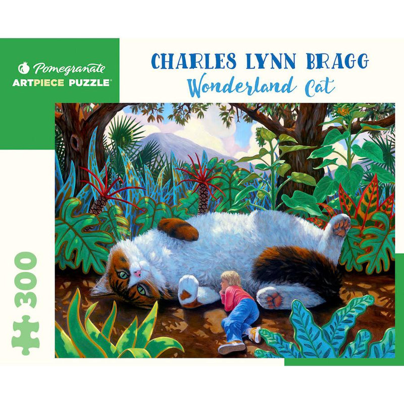 Jigsaw Puzzles - Pomegranate Charles Lynn Bragg: Wonderland Cat 300 Pc Puzzle