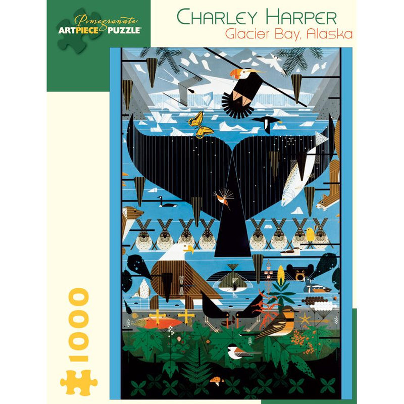 Jigsaw Puzzles - Pomegranate Charley Harper: Glacier Bay 1000 Pc Puzzle