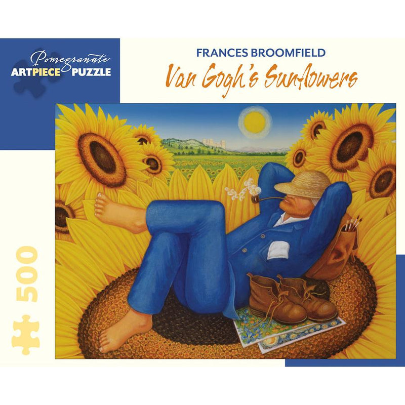 Jigsaw Puzzles - Pomegranate Frances Broomfield: Van Gogh's Sunflowers 500 Pc Puzzle