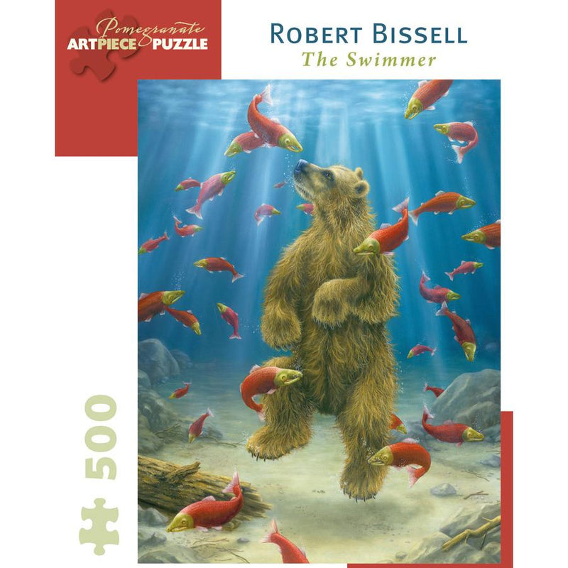Jigsaw Puzzles - Pomegranate Robert Bissell: The Swimmer 500 Pc Puzzle