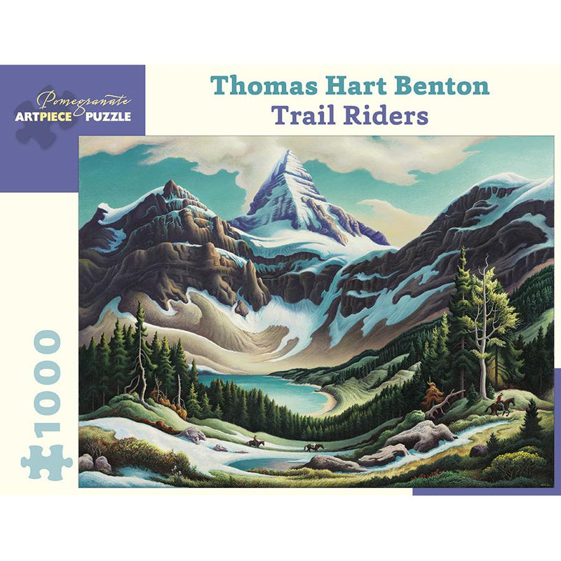 Jigsaw Puzzles - Pomegranate Thomas Hart Benton: Trail Riders 1000 Pc Puzzle