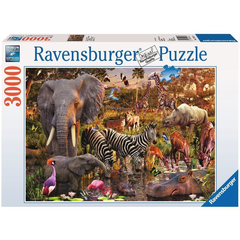 Jigsaw Puzzles - Ravensburger African Animals 3000 Piece Puzzle