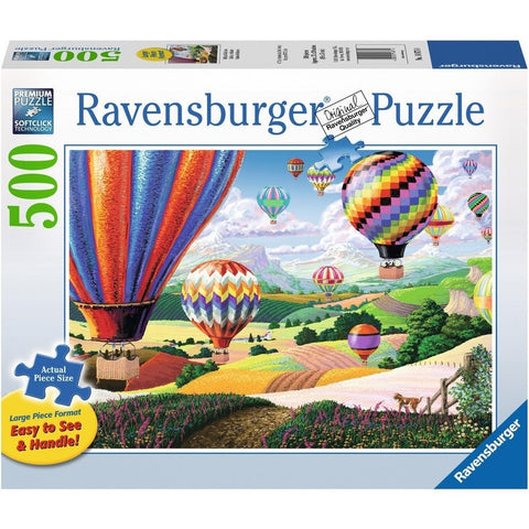 Jigsaw Puzzles - Ravensburger Brilliant Balloons 500 Piece Puzzle