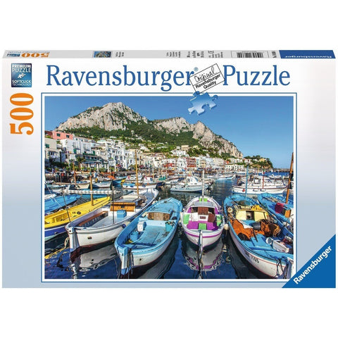 Jigsaw Puzzles - Ravensburger Colorful Marina 500 Piece Puzzle