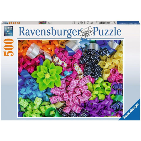 Jigsaw Puzzles - Ravensburger Colorful Ribbons 500 Piece Puzzle