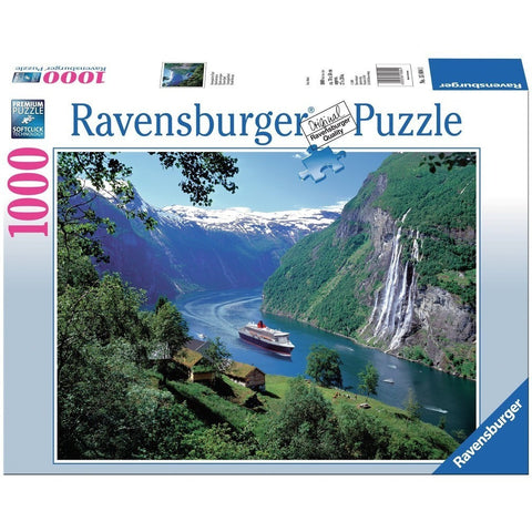 Jigsaw Puzzles - Ravensburger Norwegian Fjord 1000 Piece Puzzle