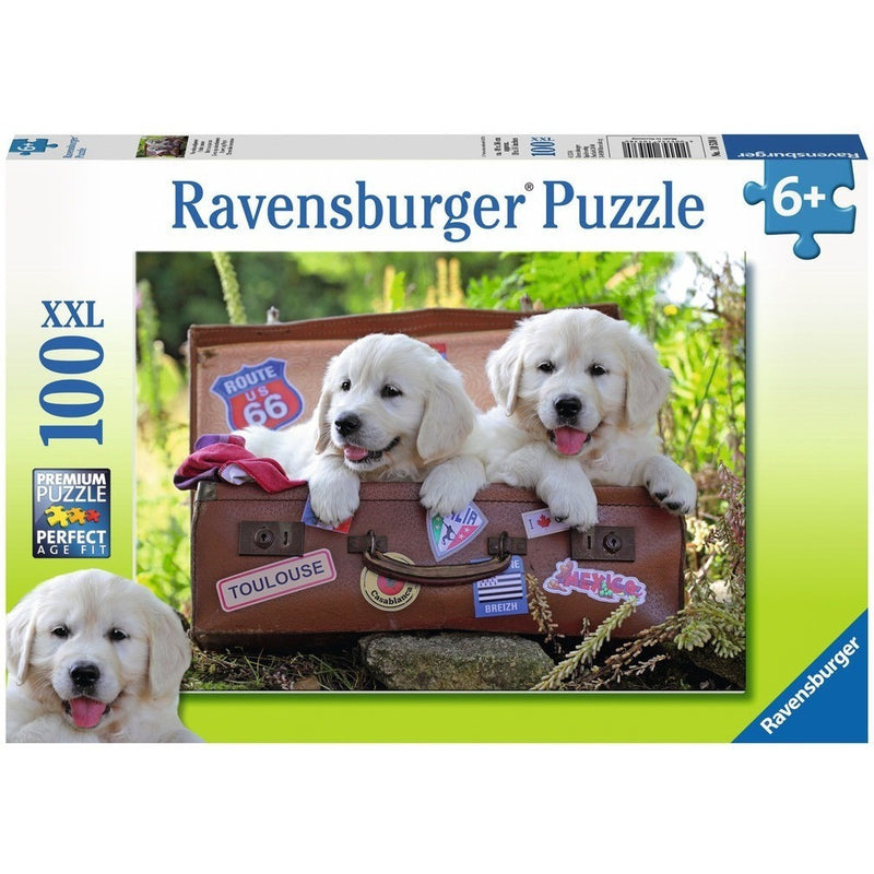 Jigsaw Puzzles - Ravensburger Traveling Pups 100 XXL Piece Puzzle