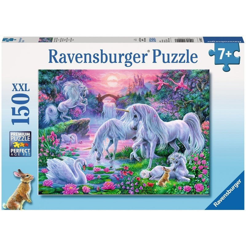 Jigsaw Puzzles - Ravensburger Unicorns In The Sunset Glow 150 XXL Piece Puzzle