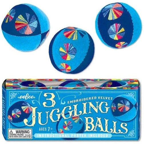 eeBoo Blue Juggling Balls - Set of 3 - Juggling - Anglo Dutch Pools and Toys
