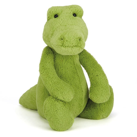 "Jellycat Bashful Croc Medium 12"" - Jungle and Wild Animals - Anglo Dutch Pools and Toys"